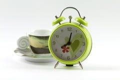 Acht Uhr-Kaffee Stockfoto