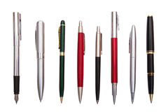 Acht verschiedene Stifte Lizenzfreie Stockfotografie