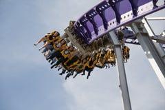 Achtbaanrit in het park Royalty-vrije Stock Fotografie