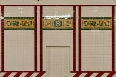 Achte Alleen-U-Bahnstation - New York City Lizenzfreie Stockbilder