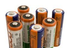 Achte Speicherbatterien Stockbild