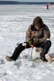 Achte Welteis-Fischen-Meisterschaft in Charkiw-Region, Ukraine am 5.-6. Februar 2011 Lizenzfreies Stockbild