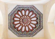Achteckdekoration auf Decke an Nayak-Palast Stockbild
