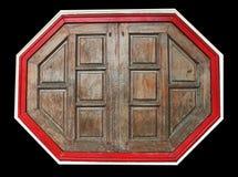 Achteckholzfenster Lizenzfreies Stockfoto
