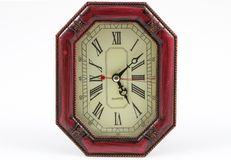 Achteckige Form der hölzernen Uhr Stockfotografie