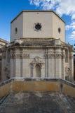 Achteckige Kapelle in Syrakus, Sepolcro-Di Santa Lucia Stockfotos