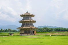 Achteckiger Trommel-Turm (der a-Teil von Kikuchi-Schloss) stockfotos