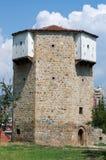 Achteckiger Wachturm in Novi Pazar, Serbien stockbilder