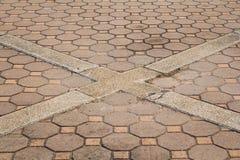 Achteckiger Ziegelstein und Quadrathintergrund und -beschaffenheit Lizenzfreies Stockbild