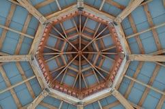 Achteckiges Gazebo-Dach-Muster Lizenzfreies Stockbild