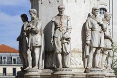 Achteckiges Monument Praca Luis da Camoes Stockfotografie