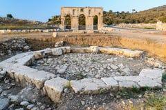 Achteckiges Pool in alter Lycian-Stadt Patara Die Türkei Lizenzfreies Stockbild