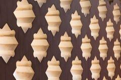 Achteckiges Wandloch Stockbilder
