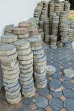 Achteckziegelstein für das Legen des Pflasterungsbodens im Bau Lizenzfreie Stockbilder