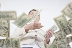 Achteloos contant geld Stock Foto's