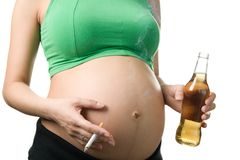 Achteloze zwangerschap Royalty-vrije Stock Foto