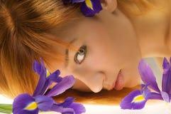 Achter bloem royalty-vrije stock afbeeldingen