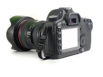 Achter Camera met witte LCD Stock Afbeelding