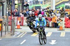 Achter de Held - Standard Chartered Hong Kong Marathon 2017 Stock Foto's
