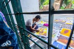 Achter de Kooi in Myanmar het Leven Stock Afbeelding