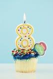 Achter Geburtstag-kleiner Kuchen Stockbilder