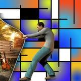 Achter het art. stock illustratie
