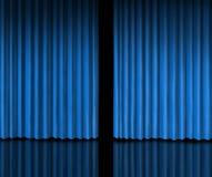 Achter het Blauwe Gordijn stock illustratie