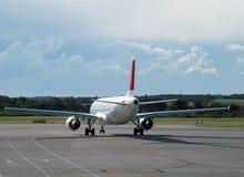 Achter het vliegtuig stock foto's