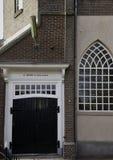 Achter-ingang van monumentale Bethelchurch bij vroeger eiland Urk Royalty-vrije Stock Fotografie