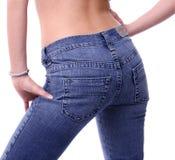 Achter jeans Royalty-vrije Stock Fotografie