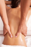 Achter massage Stock Fotografie