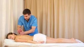 Achter Massage stock video