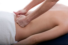 Achter massage Stock Foto