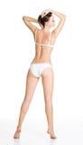 Achter mening van mooi slank vrouwelijk lichaam Royalty-vrije Stock Afbeelding