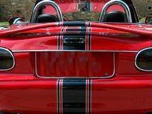 Achter mening van rode convertibel stock afbeelding