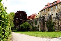 Achter Rothenburg ob der Tauber royalty-vrije stock afbeelding