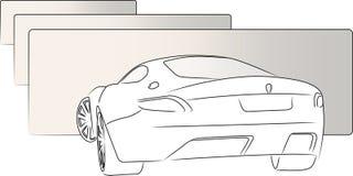 Achter schetsauto stock illustratie