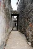 Achter straat in China royalty-vrije stock foto's