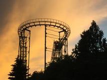 Achterbahn bei Sonnenuntergang Lizenzfreie Stockfotografie