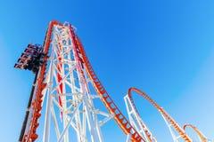 Achterbahn-Blitz bei Luna Park in Coney Island, NYC Lizenzfreies Stockbild
