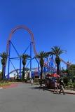 Achterbahn in der Warner- Bros.filmwelt, Gold Coast, Australien Lizenzfreies Stockfoto