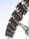 Achterbahn oder Zug zu fliegen Lizenzfreies Stockbild