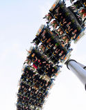 Achterbahn oder Zug zu fliegen Stockfotos