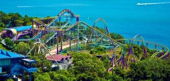 Achterbahn am Ozeanpark Hong Kong Lizenzfreies Stockbild