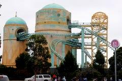 Achterbahn, Reise nach Atlantis, SeaWorld, San Diego, Kalifornien Lizenzfreie Stockfotos