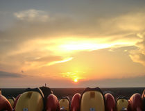 Achterbahn-Sonnenuntergang Lizenzfreies Stockfoto