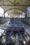 Achterbahn in Spreepark Berlin Lizenzfreies Stockbild