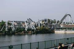 Achterbahn in Universal Studios-Freizeitpark Lizenzfreie Stockbilder