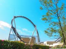 Achterbahn in Universal Studios, Osaka Japan Lizenzfreies Stockfoto