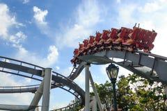 Achterbahn in Universal Studios, Osaka Japan Lizenzfreies Stockbild